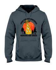 Here For Unicorn Hooded Sweatshirt thumbnail