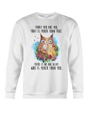 Owl Truer Than True Crewneck Sweatshirt thumbnail