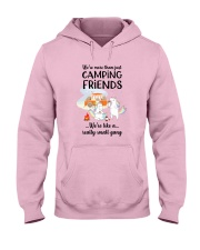 Camping - Unicorn bang Hooded Sweatshirt front