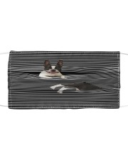 Boston Terrier Striped T821  Cloth face mask front