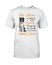 House Filled With Border Collie Classic T-Shirt front
