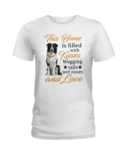 House Filled With Border Collie Ladies T-Shirt thumbnail