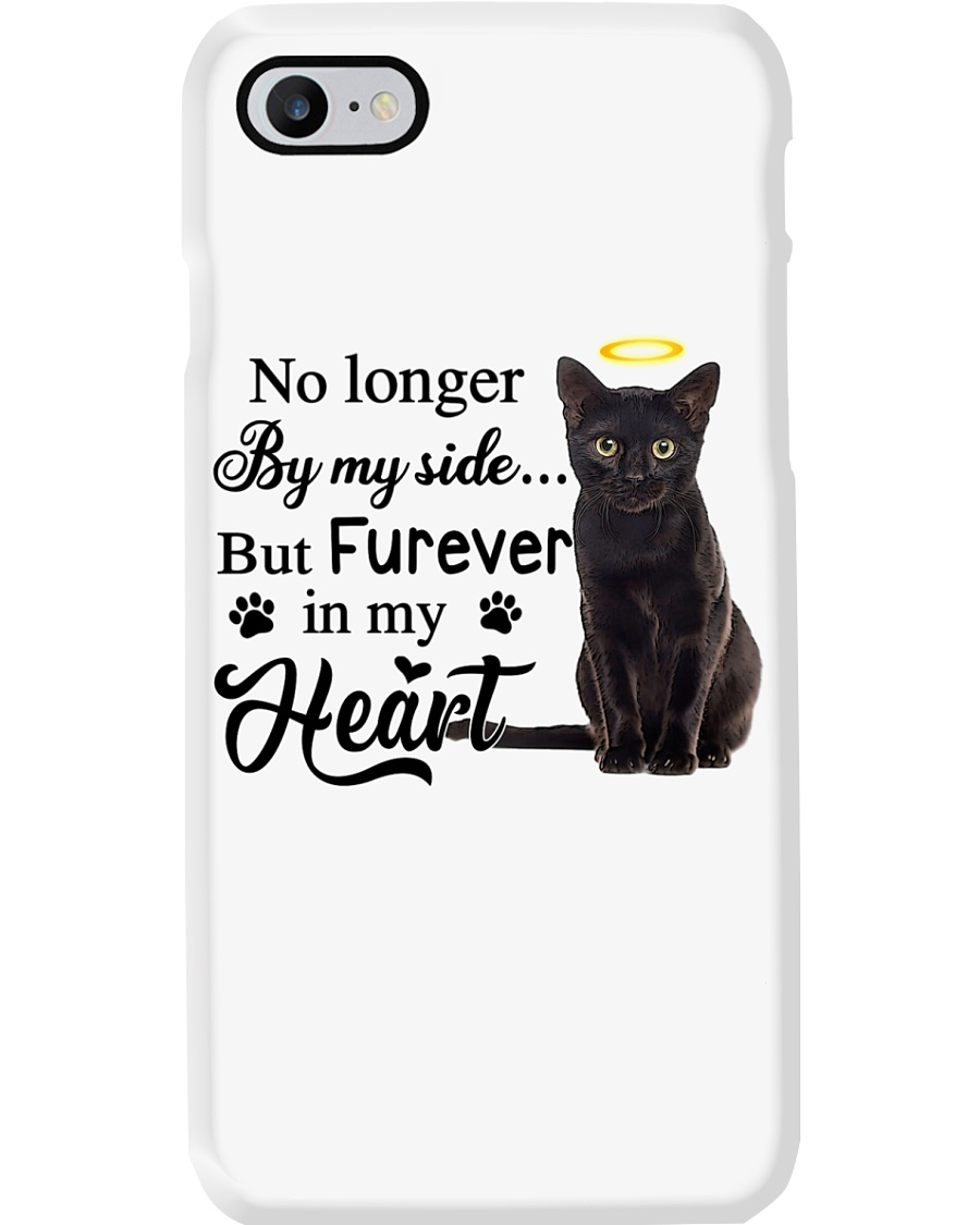 Black Cat Forever In My Heart Phone Case