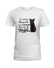 Black Cat Forever In My Heart Ladies T-Shirt thumbnail