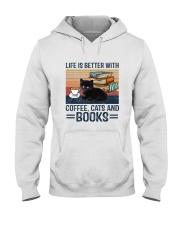 Cat Coffee Books G5930 Hooded Sweatshirt front