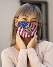 Cat USA Flag H28862 Cloth face mask aos-face-mask-lifestyle-17