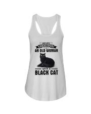 Black cat Never underestimate Ladies Flowy Tank thumbnail
