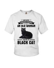 Black cat Never underestimate Youth T-Shirt thumbnail