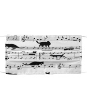 Black Cat Music Notes G82511  Cloth face mask front