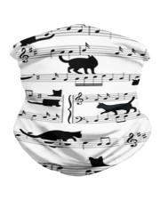 Black Cat Music Notes G82511  Neck Gaiter tile
