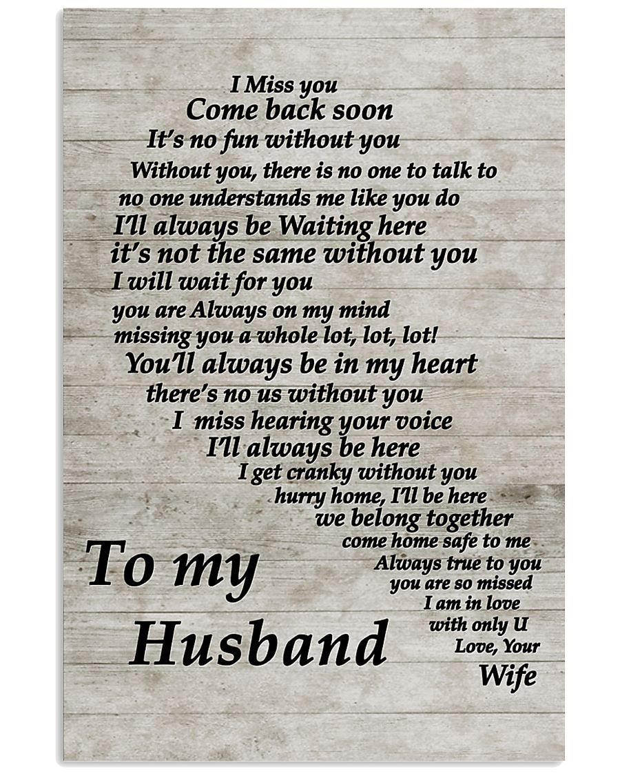 Family To My Husband I Miss You 11x17 Poster