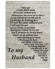Family To My Husband I Miss You 11x17 Poster front