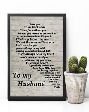 Family To My Husband I Miss You 11x17 Poster lifestyle-poster-8
