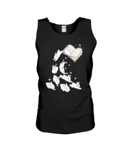 Rabbit Book Unisex Tank tile
