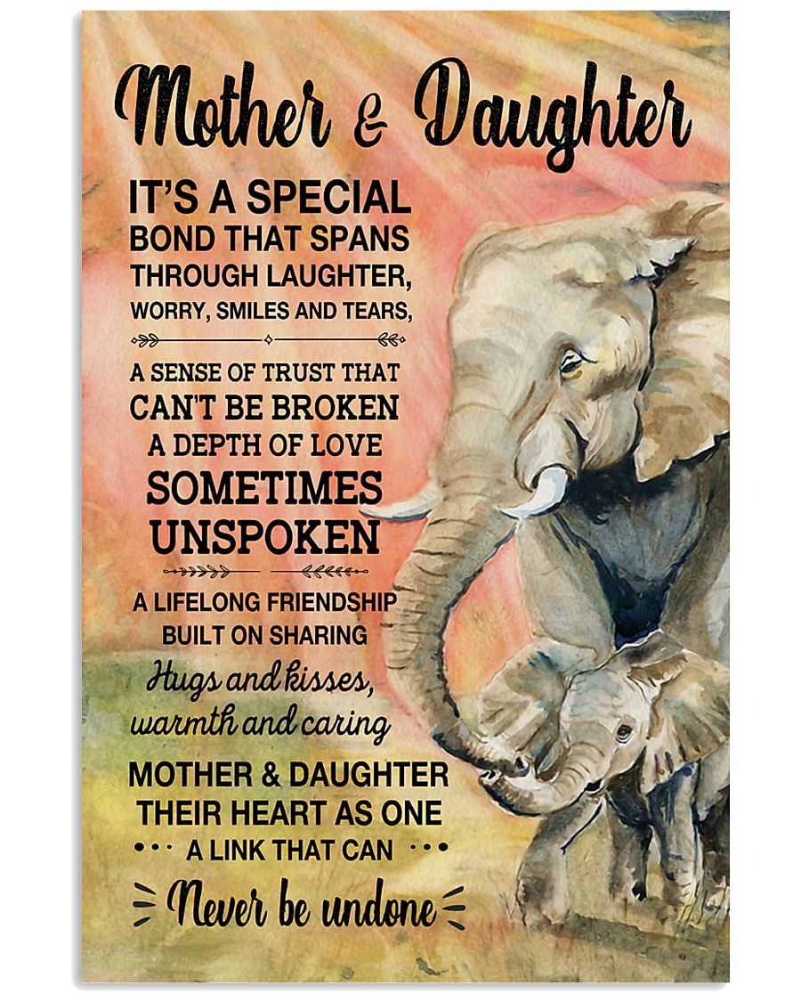 Elephant - Mother and Daughter is Special 11x17 Poster