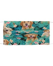 Golden Retriever Tropical H31701 Cloth face mask front