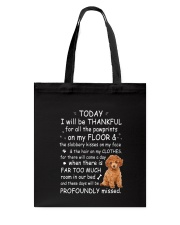 Poodle Thankful Tote Bag tile