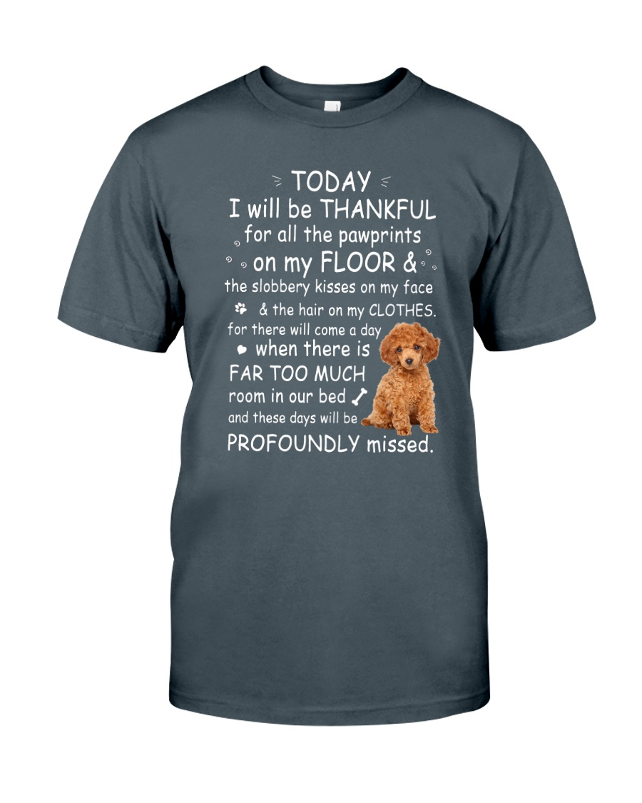Poodle Thankful Classic T-Shirt