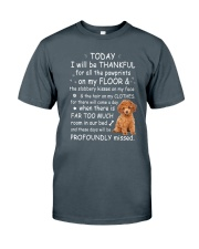 Poodle Thankful Classic T-Shirt front