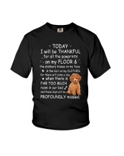 Poodle Thankful Youth T-Shirt thumbnail
