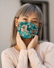Yorkshire Terrier Tropical H31708 Cloth face mask aos-face-mask-lifestyle-17