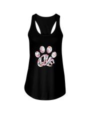 Dog Pawprint Love Ladies Flowy Tank thumbnail