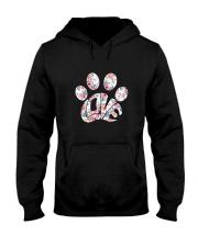 Dog Pawprint Love Hooded Sweatshirt thumbnail