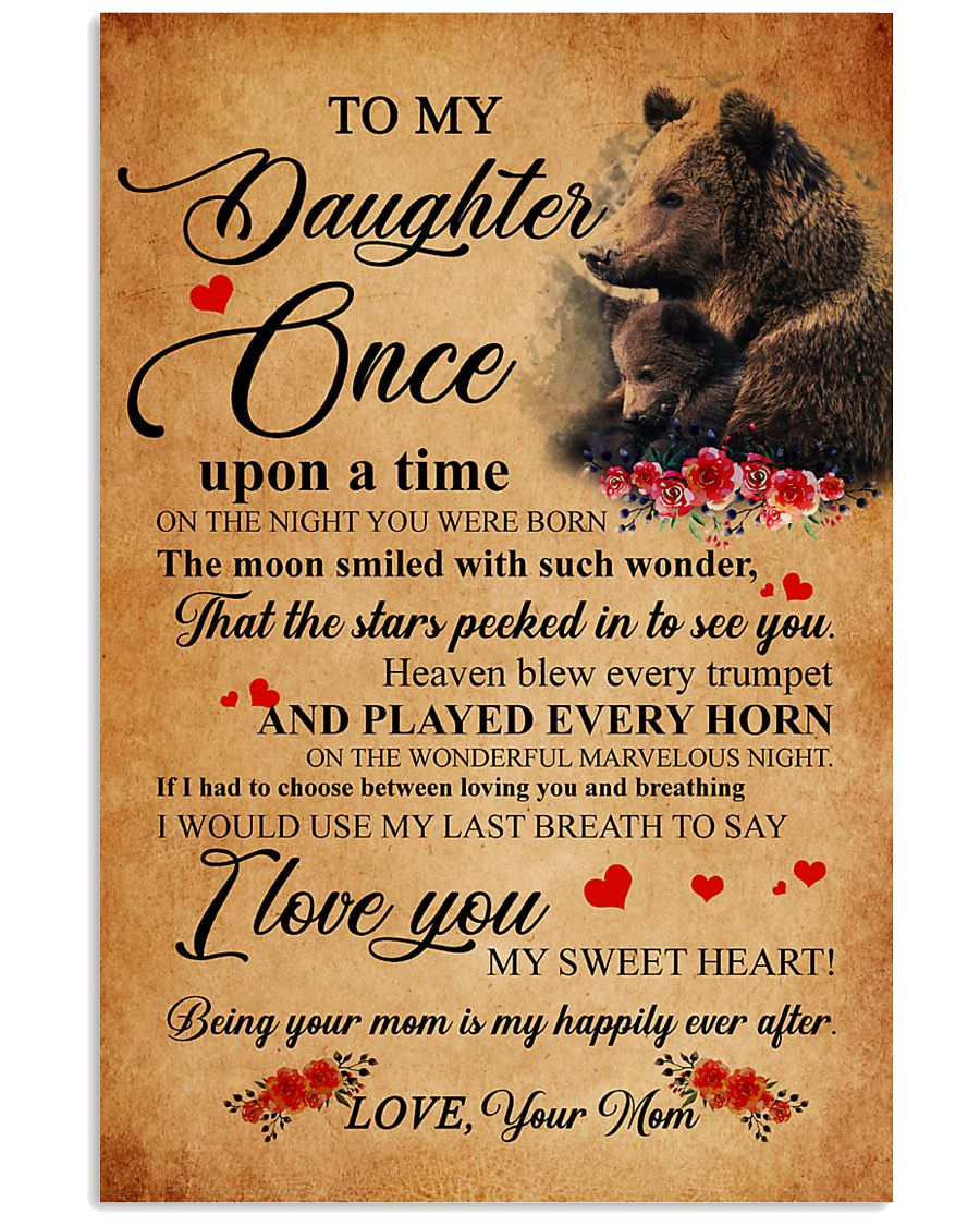 Family Bear Daughter 11x17 Poster