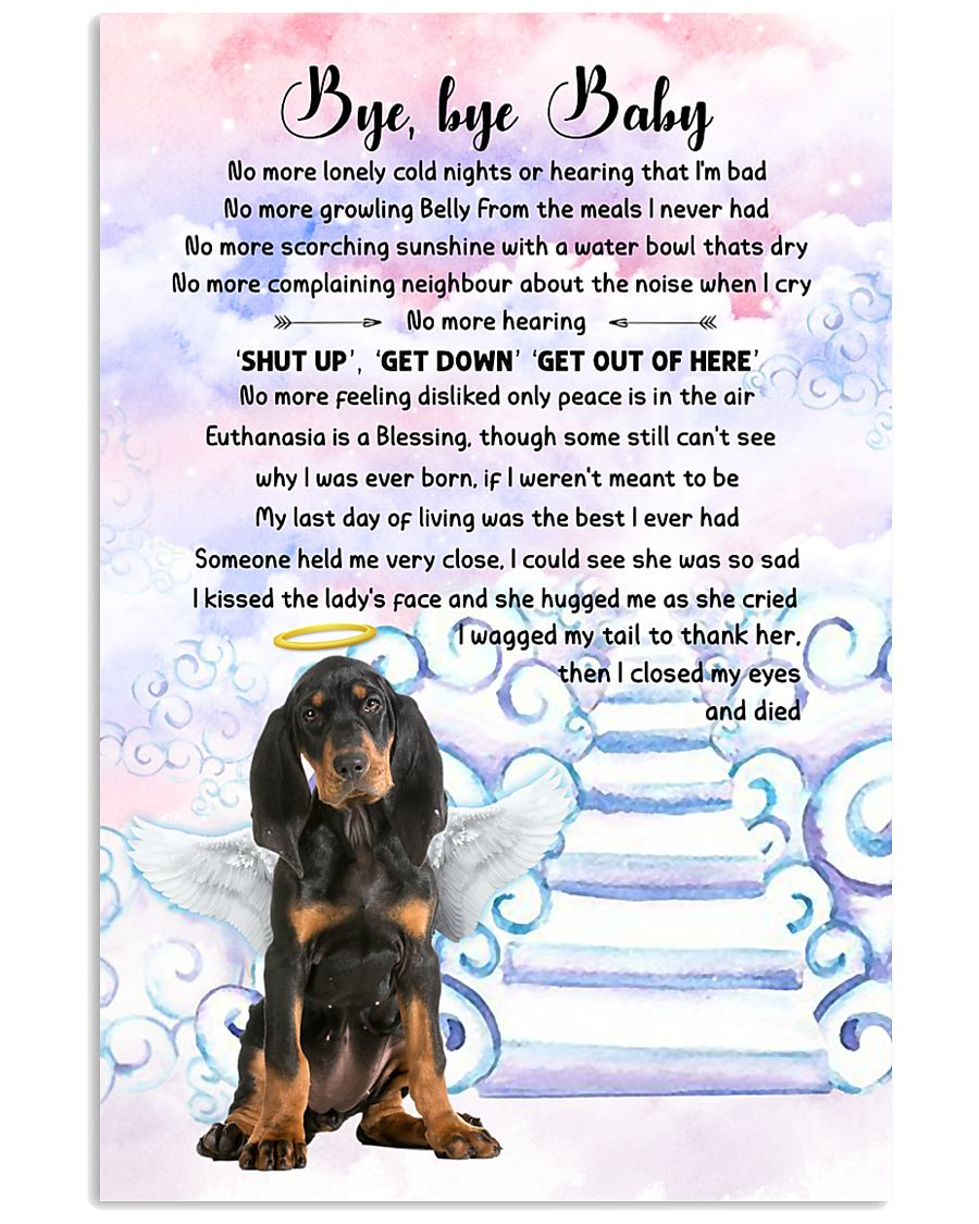 Bye baby - Black and Tan Coonhound 11x17 Poster