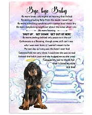 Bye baby - Black and Tan Coonhound 11x17 Poster front