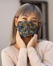 Miniature Pinscher Pumpkin T827 Cloth face mask aos-face-mask-lifestyle-17