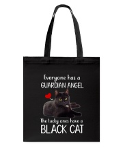 Angel Black Cat Tote Bag thumbnail