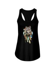 Wolf - Color Dreamcatcher Ladies Flowy Tank thumbnail
