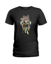 Wolf - Color Dreamcatcher Ladies T-Shirt thumbnail