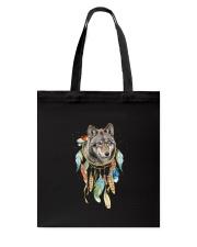 Wolf - Color Dreamcatcher Tote Bag thumbnail