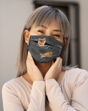 Pomeranian Striped T821  Cloth face mask aos-face-mask-lifestyle-17