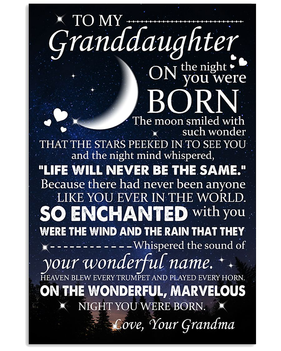 Family - To My Granddaughter On The Night 11x17 Poster