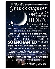 Family - To My Granddaughter On The Night 11x17 Poster front