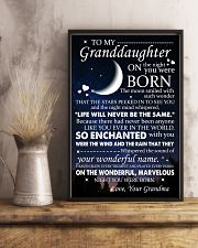 Family - To My Granddaughter On The Night 11x17 Poster lifestyle-poster-3