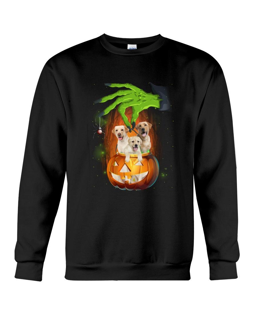 Labrador Retriever Hand Witch Crewneck Sweatshirt