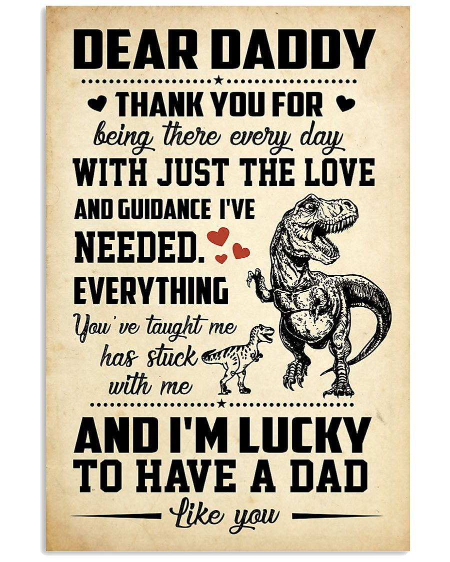 T-rex Daddy 11x17 Poster