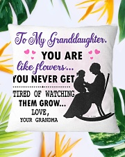 Family - To my granddaughter you like flower Square Pillowcase aos-pillow-square-front-lifestyle-29