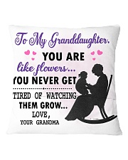 Family - To my granddaughter you like flower Square Pillowcase back