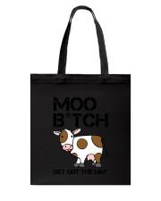 Farmer - Moo Get Out Tote Bag thumbnail
