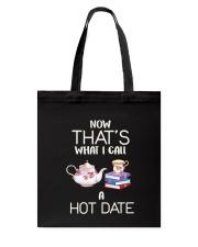 Book And Tea Hot Date Tote Bag thumbnail