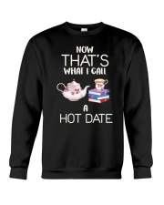 Book And Tea Hot Date Crewneck Sweatshirt thumbnail