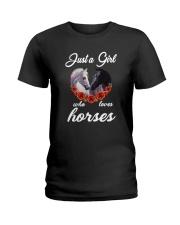Horse - Girl Loves Horses Ladies T-Shirt thumbnail