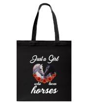 Horse - Girl Loves Horses Tote Bag thumbnail