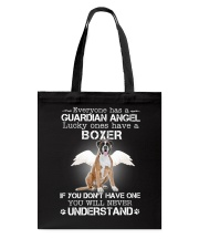 DOG BOXER - GUARDIAN ANGEL Tote Bag thumbnail