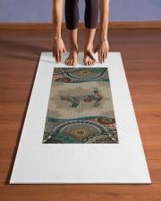 Cat Mandala T5TF Yoga Mat 24x70 (vertical) aos-yoga-mat-lifestyle-26